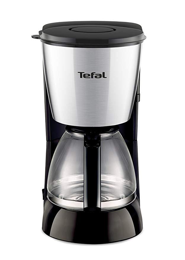 [커피메이커]테팔 FG441800 필터 커피 머신 COMPACT 15 컵 용량 1.25 L 블랙 / 스테인레스 스틸 시리즈, 단일상품