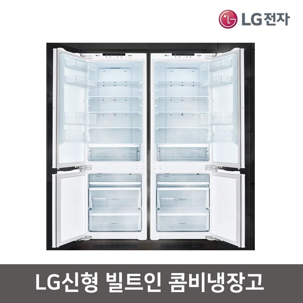 LG전자 신형 디오스 빌트인 콤비 냉장고 M272PR34BL / M272PR34BR, M272PR34BL(좌열림)