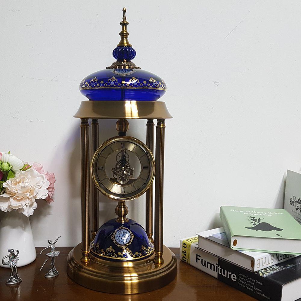 이탤릭 클래시 스탠드 테이블시계 블루 선물:AUCCMD RHCMD 항상행복해샴 + 14141234663, 쿠팡 GODQHR HASEY 본상품선택