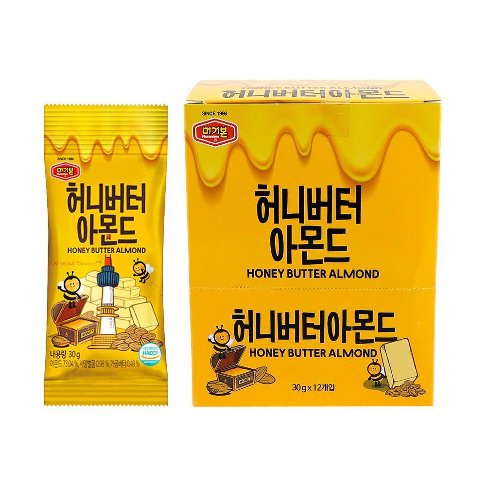 머거본 허니버터 아몬드 30g 72봉 1박스, 몽키쇼핑 1