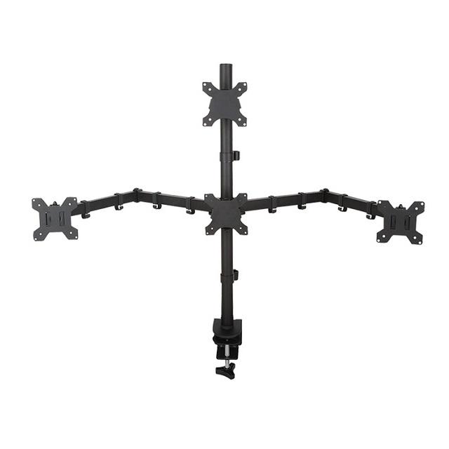 아이존아이앤디 멀티 다중 쿼드 2단 삼각 4대 모니터 암 거치대 10종 32인치까지, 4-9. EZ-MC4-310(1대3대/2단)
