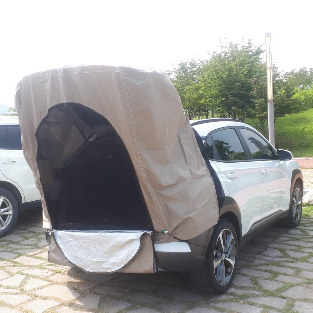 차박텐트 모기장포함 차량용 트렁크 투싼 싼타페 카니발 쏘렌토 Qm6 티볼리 올란도 모히비, M사이즈(소형SUV), 카키