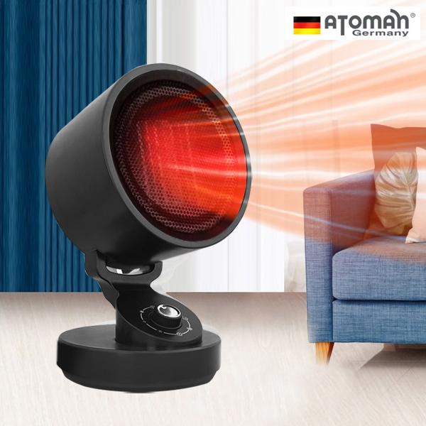독일 아토만 온풍기 가정용 사무실 캠핑용 욕실 화장실 히터 난방기 써큘레이터형 전기히터 ATO-WB2276, 블랙
