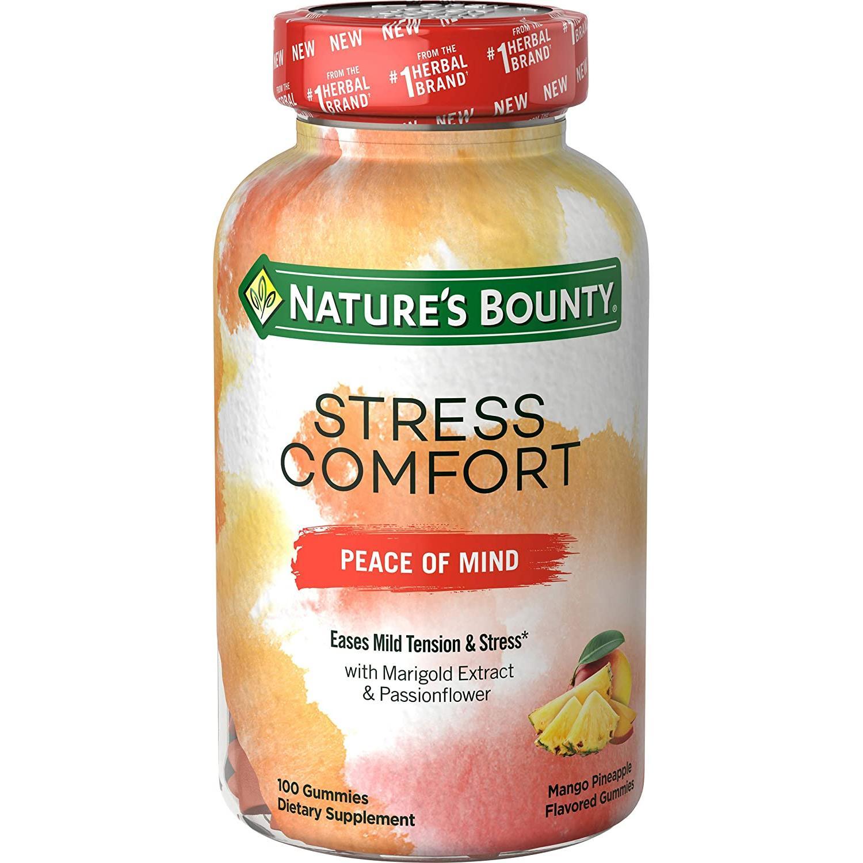 네이처스바운티 Natures Bounty 스트레스 해소 심신안정 영양제 젤리타입(망고 파인에플맛) 100정 기타영양제, 상세페이지 참조, 상세페이지 참조