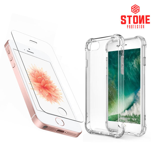 스톤스틸 아이폰se 아이폰5s 강화유리필름 + 범퍼케이스, 1세트
