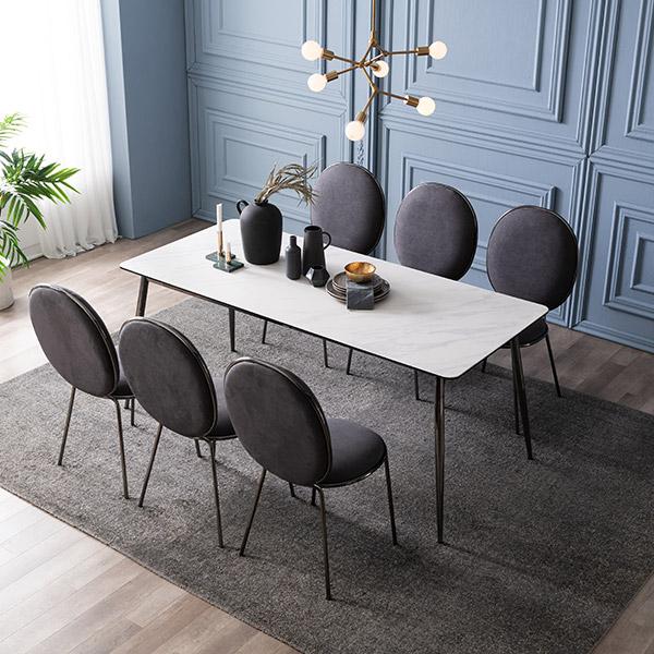 삼익가구 크리즈 세라믹 6인용 식탁 세트, 03.6인용 식탁세트(의자6):아이보리
