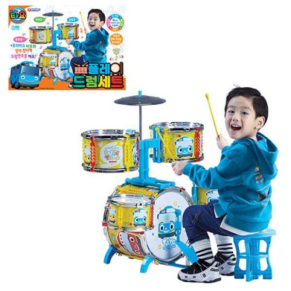 바니 타요 플레이 드럼세트(71978) 3살 4살 5살 6살 7살 남자 여자 아이 남아 여아 유아 아동 크리스마스 선물, 단일색상