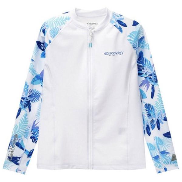 디스커버리 여성 패턴형 풀집업 래쉬가드 DWSW24831-WW 티셔츠