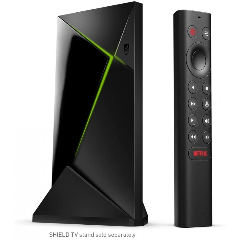 NVIDIA Shield Android TV Pro 4K HDR 스트리밍 미디어 플레이어; Alexa와 호환되는 고성능 Dolby Visio, 1, 단일상품