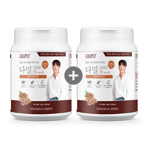 칼로바이 다밀뉴트리션 대용량 식사대용 단백질쉐이크 호두아몬드맛 1+1, 2통, 560g