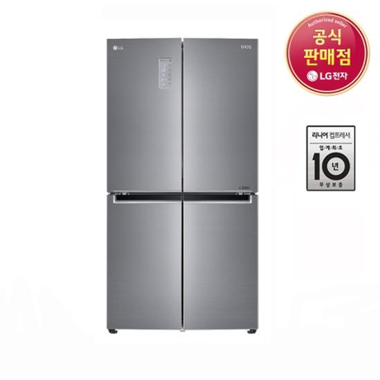 [K쇼핑]LG전자 DIOS 상냉장 하냉동 4도어 F871S11E 1등급 전국무료배송, 단일상품