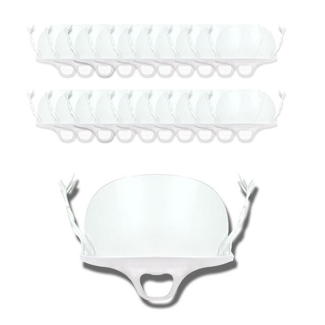 온더칩 주방용 위생 투명마스크, 10개, 1박스