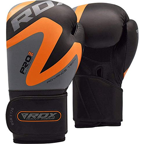 복싱 킥복싱 무에타이 글러브 사이즈 택1 RDX Boxing Gloves for Training & Muay Thai Maya Hide Leather Mitts for Sparring Fighting & Kickboxing Great for Punch Bag, 옵션 2 Size = 16oz