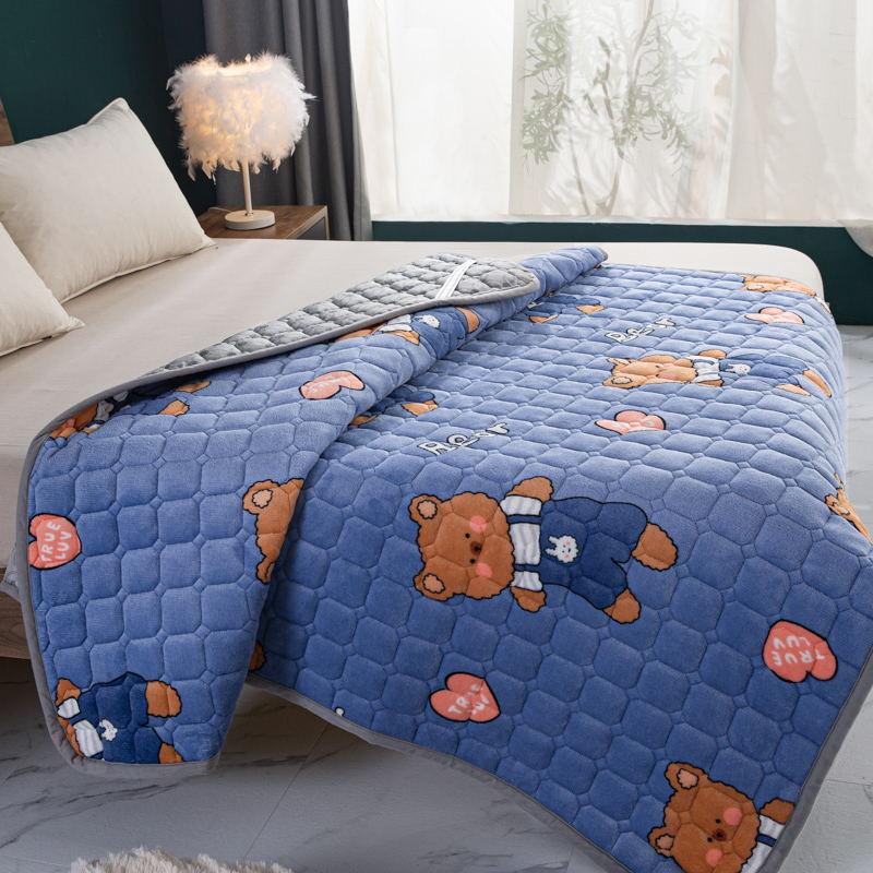 토퍼 템퍼 매트리스 침구 기타 겨울 기모 쿠션 학생 기숙사 싱글 담요 침대, AD_1.0 x 2m