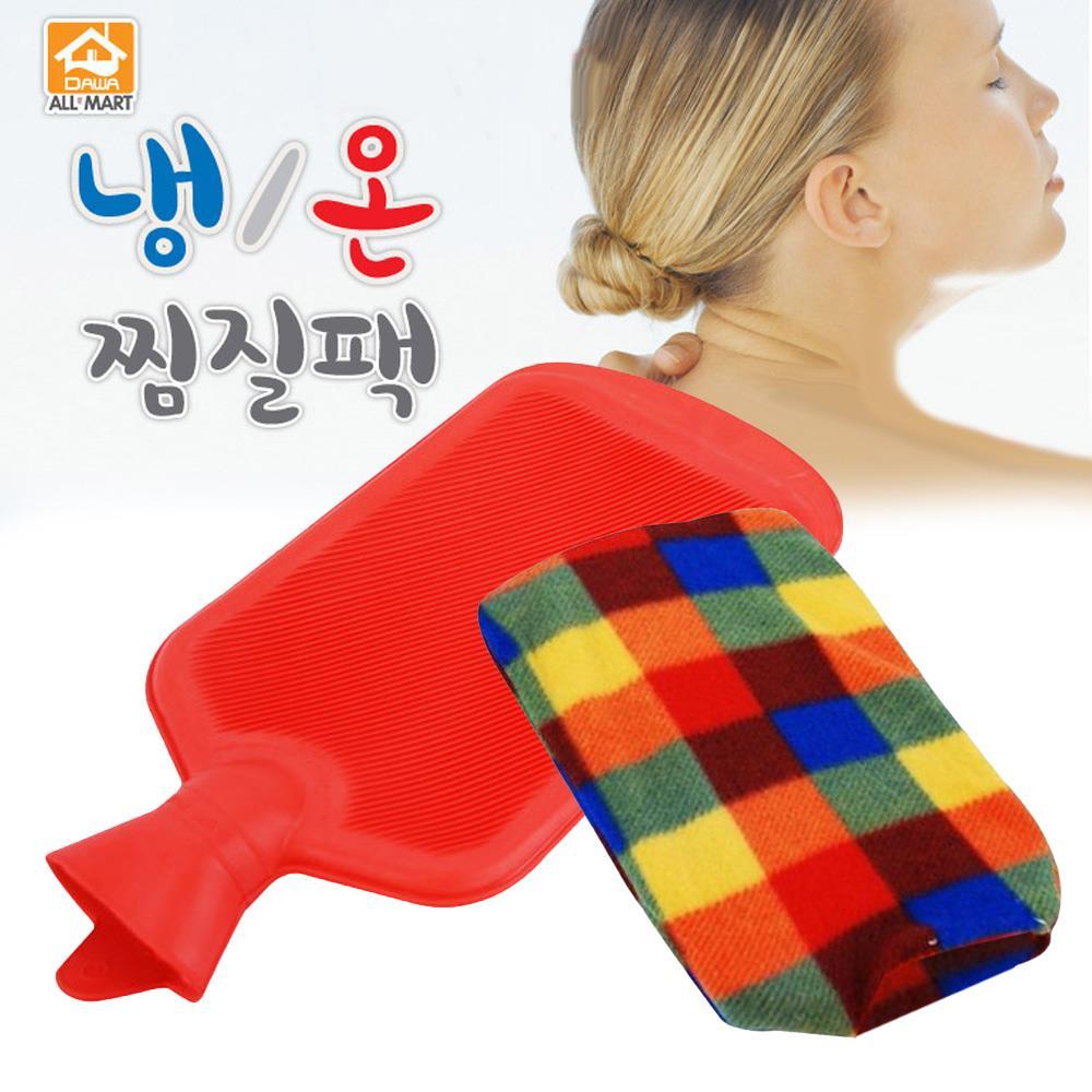 고무 물주머니 냉온 찜질팩 대용량 2리터 복부 아랫배 팔 전신, 1개
