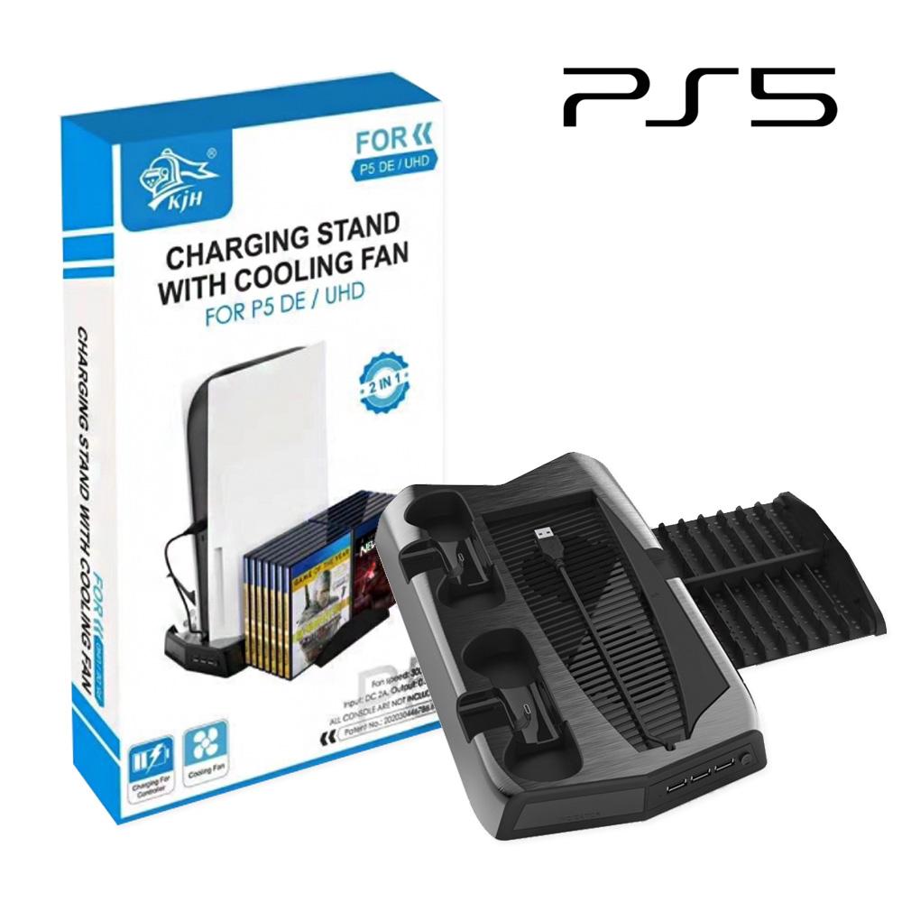 [SLC6] PS5 쿨링 스탠드 / 듀얼센서 2대 동시 충전 / 타이틀 거치대