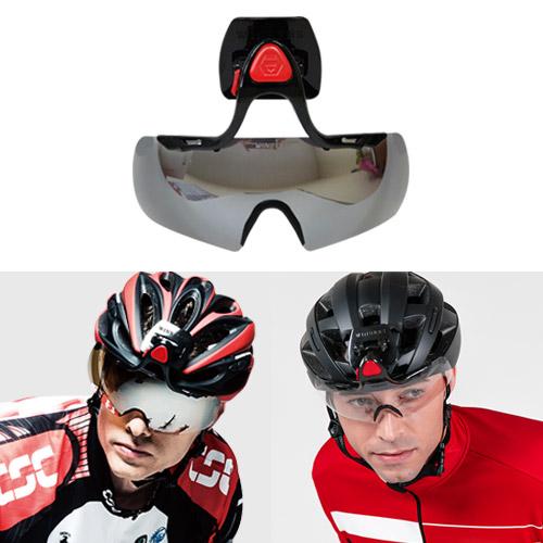 윈비즈 자전거 고글 헬멧부착형 스포츠고글 자전거고글, 03[본품] 실버-13-119623322