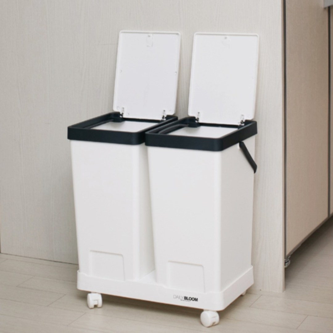 찐노마진몰 2P 재활용 분리수거함 쓰레기통 가정용 사무실용 국내생산