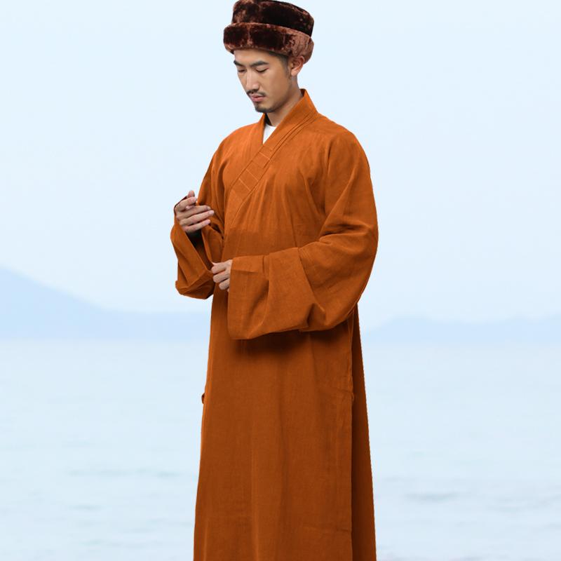 스님복 긴 저고리 남자 겨울 두루마기 와 상복불교 룩 면린넨 승의