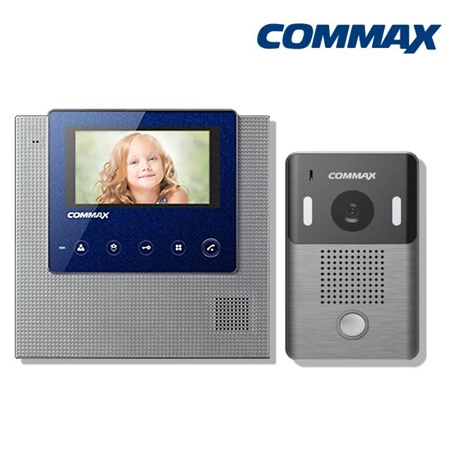 코맥스 CAV-43U 아날로그 인터폰 비디오폰, CAV-43U(블루)+DRC-4L 세트