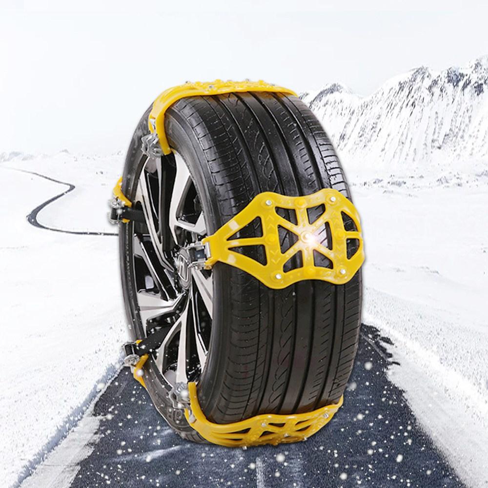 snow chain 차량용 스노우체인 자동차 타이어 체인 우레탄체인, 1개