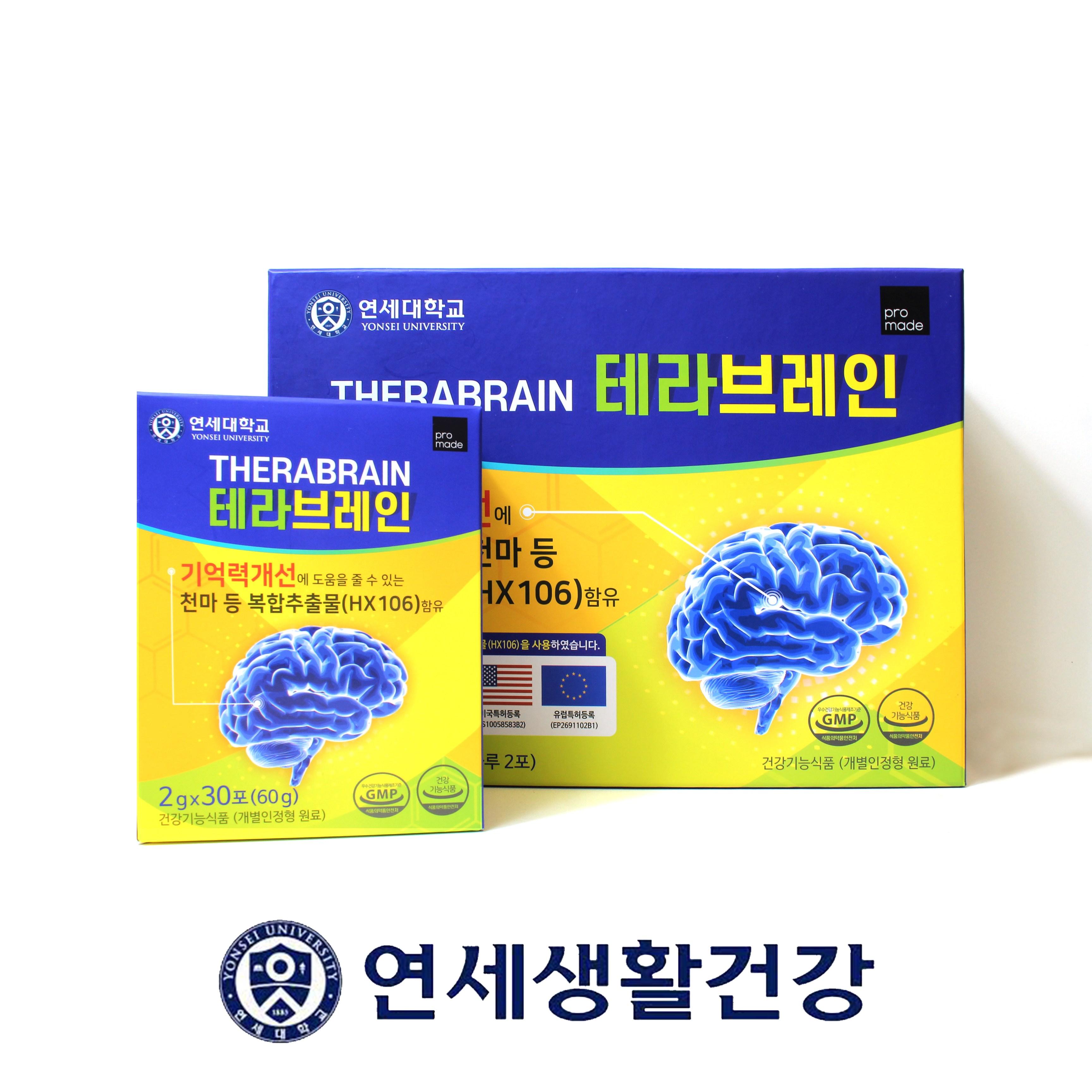 연세 테라브레인 수험생 직장인 영양제 뇌 기억력 집중력 1BOX, 60개입 / 120g, 1박스