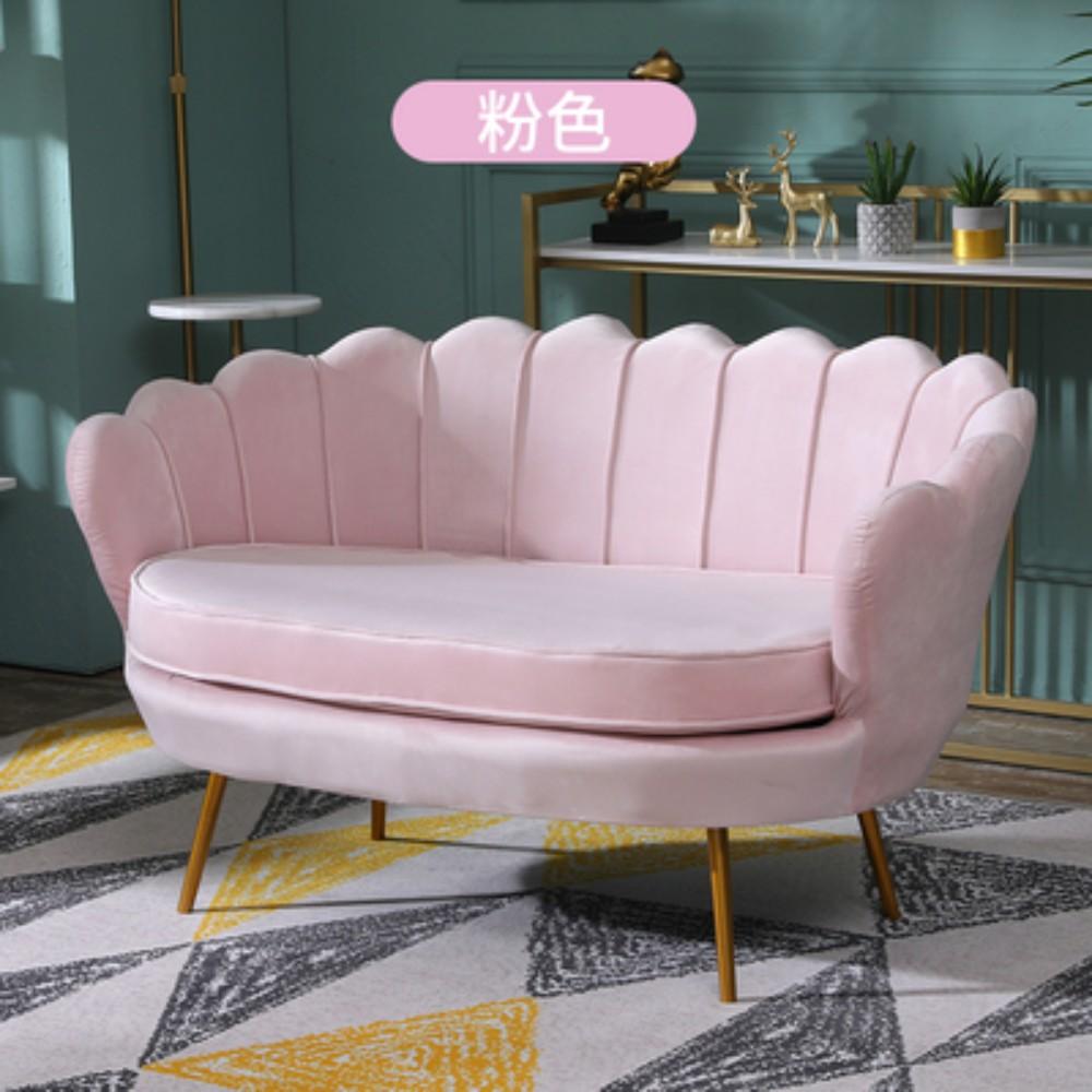 인테리어 거실 카페 업소용 디자인 미용실 미니 쇼파 소파 북유럽 매장 1 2 3 인용, 3인용 180cm + 분홍