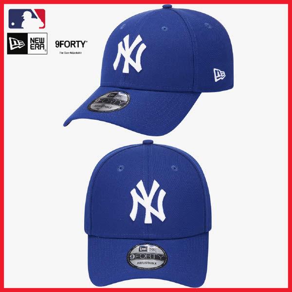 [현대백화점]뉴에라 2020 베이직 MLB 뉴욕 양키스 볼캡 모자 12359632 블루 940 BASIC NEYYAN RYL SS20, 없음