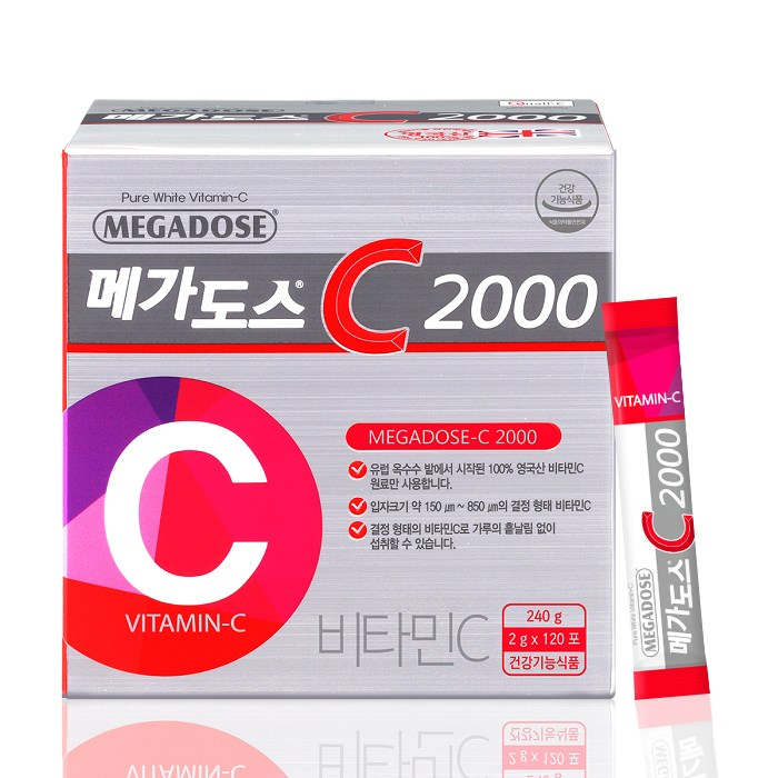 고려은단 메가도스C 2000 2g*120포(NEW), 1box, 2g*120포