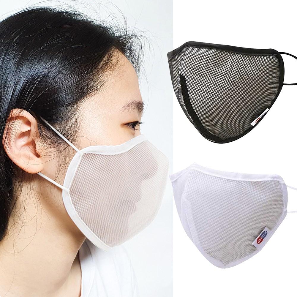 나노 에어마스크 여름용 입체 쿨 마스크+빨아 쓰는 다회용 3D마스크