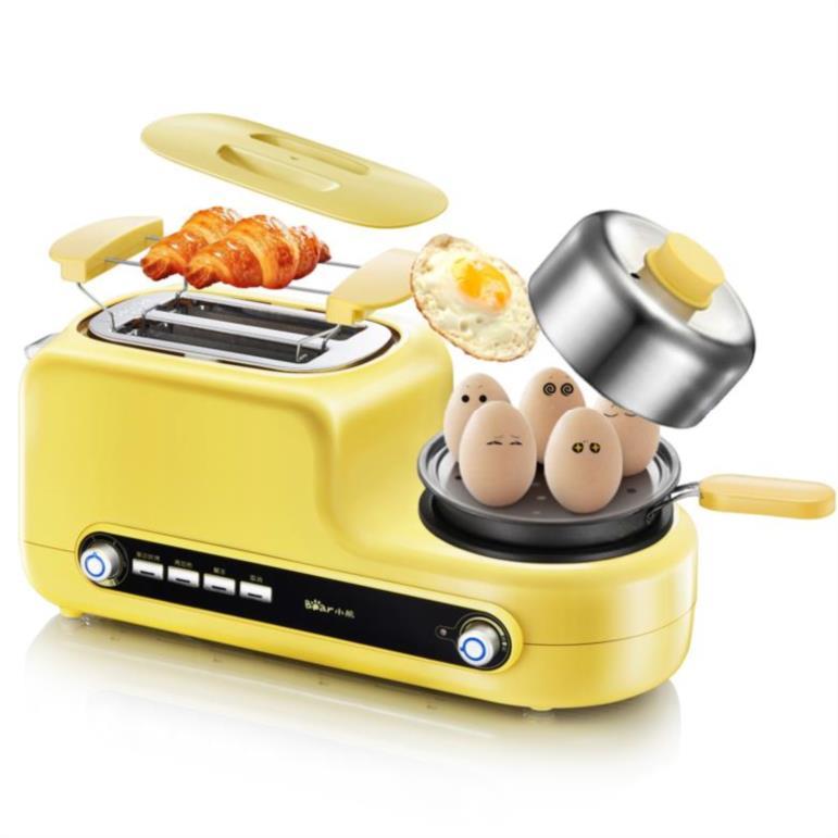 토스트기 편안한 햄구이기 계란말이기 가정용 오븐 어떻게 .기숙사 가정용기계 아침기계 국다용도, T01-노란색