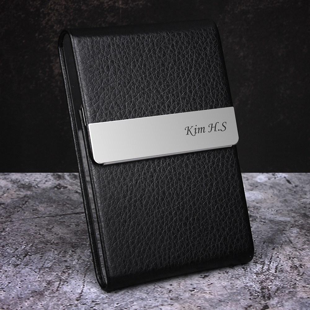 제이엘 심플 이름 로고 각인 무료 카드/명함지갑
