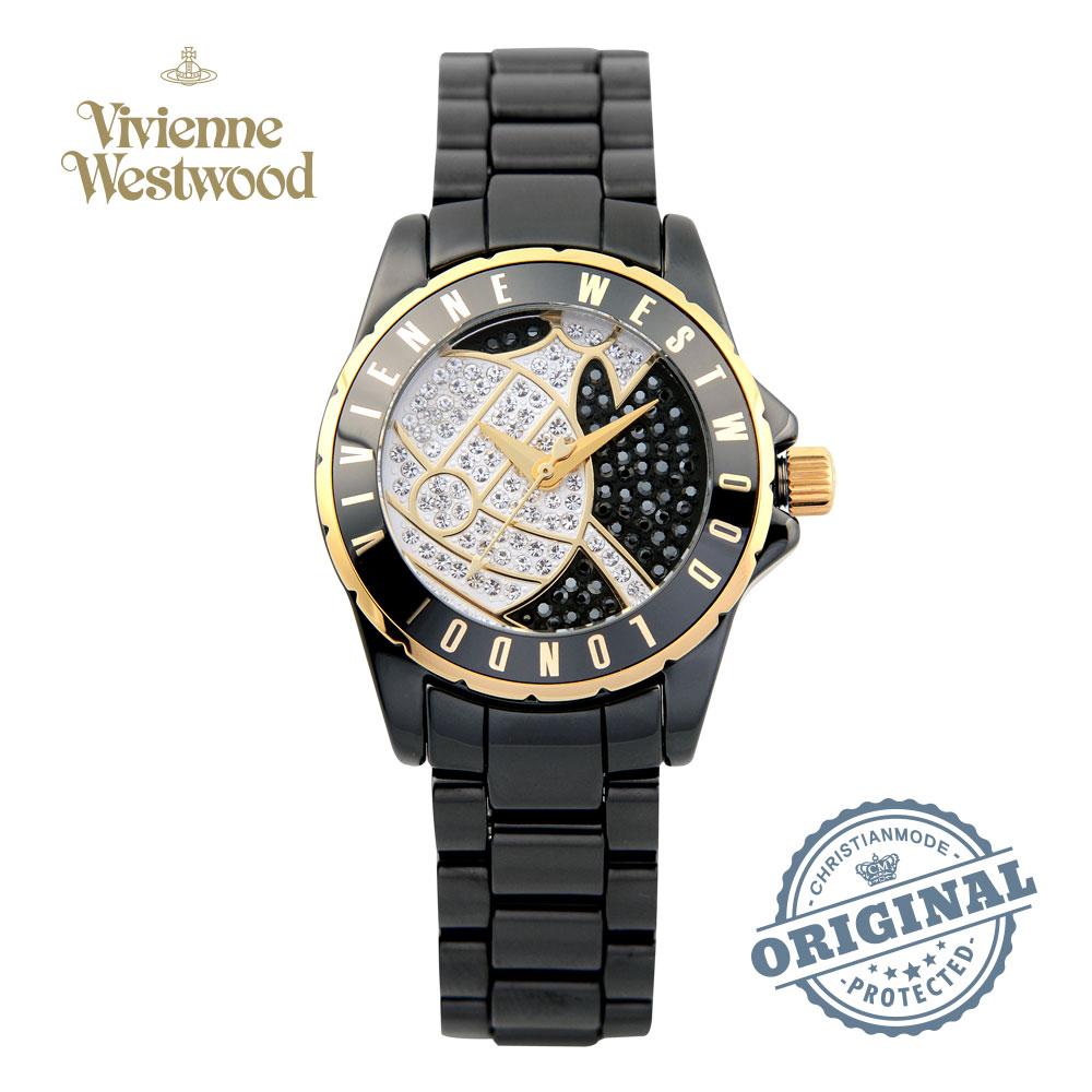 비비안웨스트우드 [당일발송 한국공식정품 백화점AS] Sloane Showpiece VV088SGDBK 세라믹 여성시계