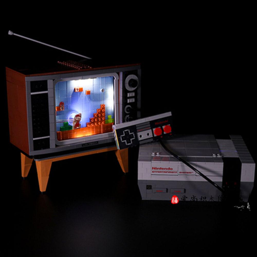 중국 레고 슈퍼 마리오 NES 닌텐도 TV 라이트 LED 조명 엔터테이먼트 시스템 71374 호환블럭 호완블럭, 일반 조명 닌텐도 NES  /2998pcs