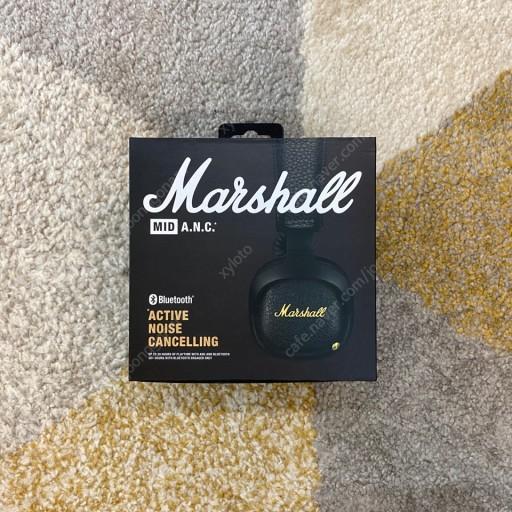 [마샬] Marshall MID A.N.C. 블루투스 무선헤드폰 액티브 노이즈 캔슬링 aptX 최대20시간재생 커스텀 드라이버), 단일상품