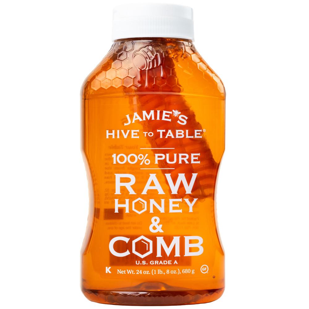 제이미스 로우 허니 허니콤 벌집꿀 680g / Jamies Hive To Table 100% Raw Honey & Comb