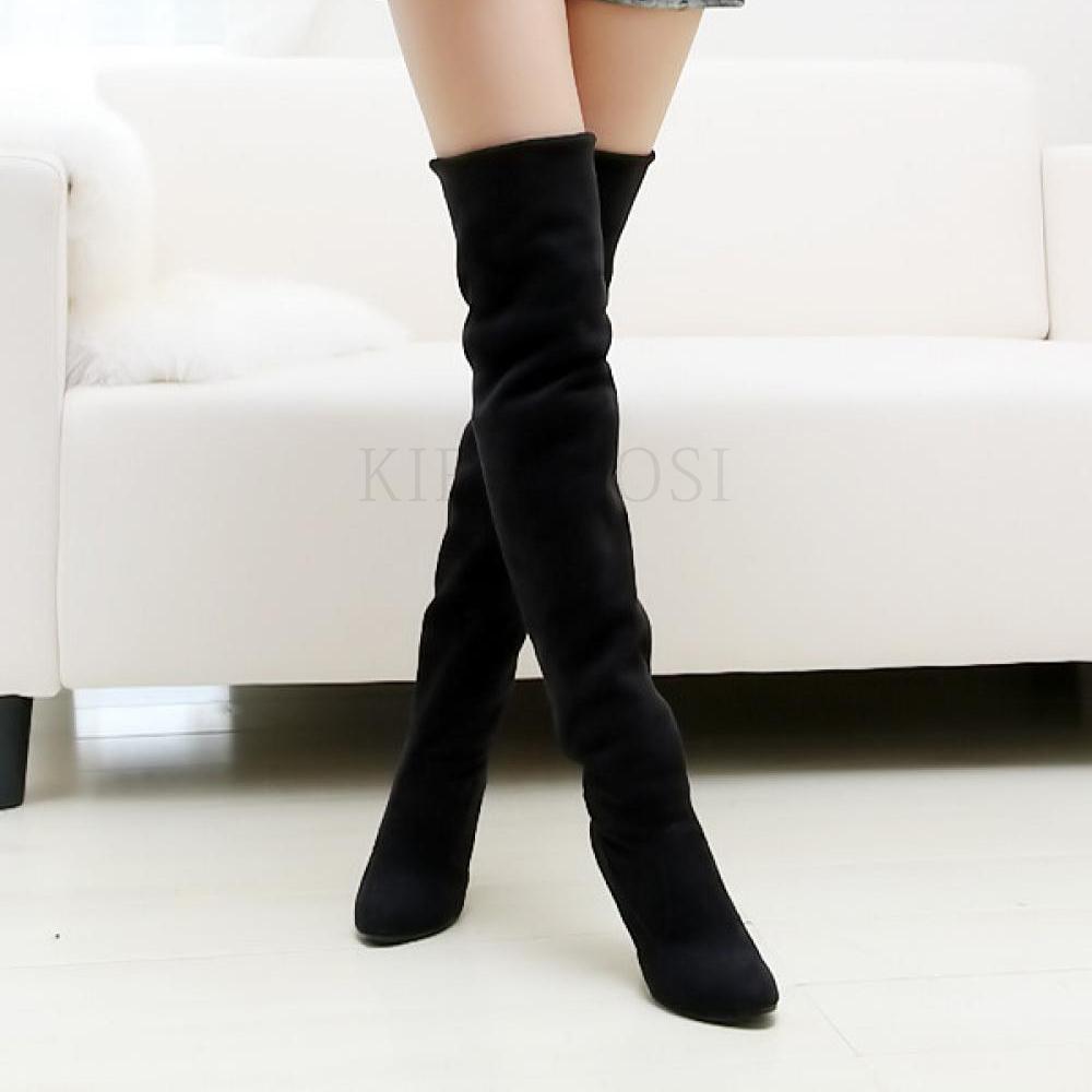kirahosi 가을 패션 여성 롱 부츠 하이 탑 캐주얼 겨울 여자 구두 신발 130 M10 AEm4r9jj
