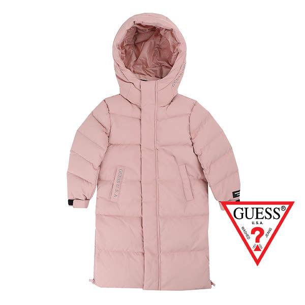 [현대백화점]게스키즈롱다운 공용 롱겨울에따뜻한 핑크 쟈켓롱다운파카 G98KDJ031P2겨울 공용 롱다운자켓