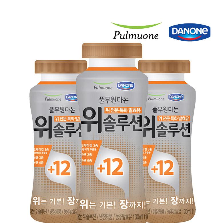 풀무원다논 위솔루션 130ml 24개 유산균 발효유