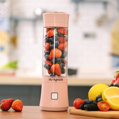 진공블렌더 일본 휴대용 전동착즙 즙컵 과일 주서기 가정용 주스컵 충전 미니 과즙기, T02-체리블라썸