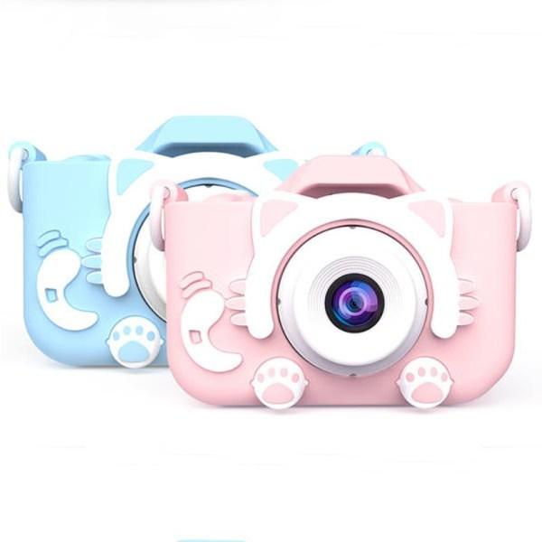 어린이 디지털카메라 고양이발 카메라 한글지원 2000만화소_32G(카드증정), 블루