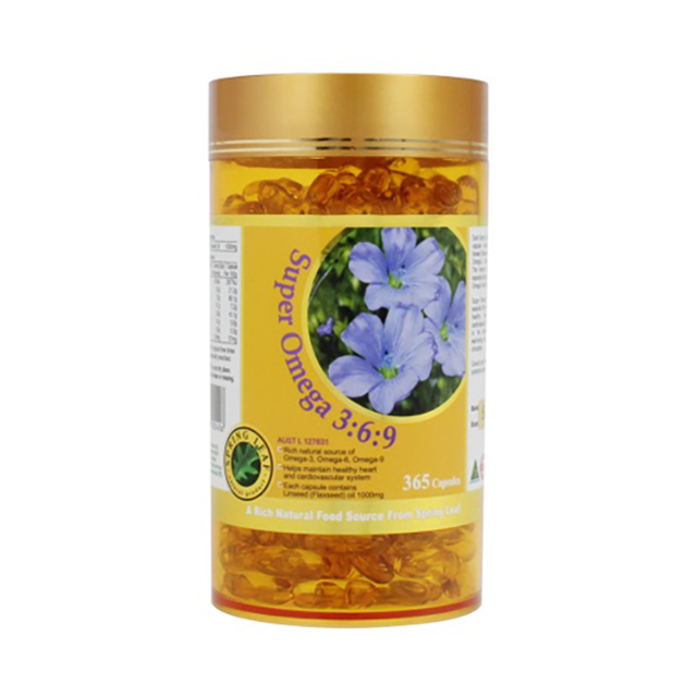 스프링리프 호주산 식물성 오메가 369 1000 365캡슐, 365정, 1병