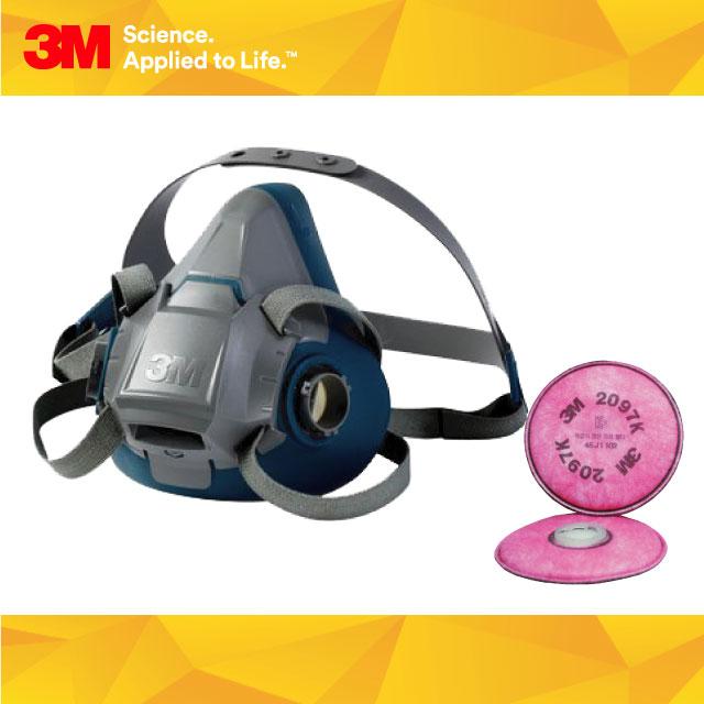 3M 방독면 특급방진필터 패키지 - 용접 그라인딩 작업용 (POP 183464232)