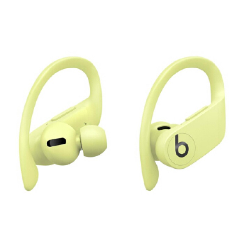 Powerbeats Pro 완전 무선 고성능 헤드폰 진정한 무선 Bluetooth 스포츠 헤드폰 활력 노란색, 단일상품, 단일상품