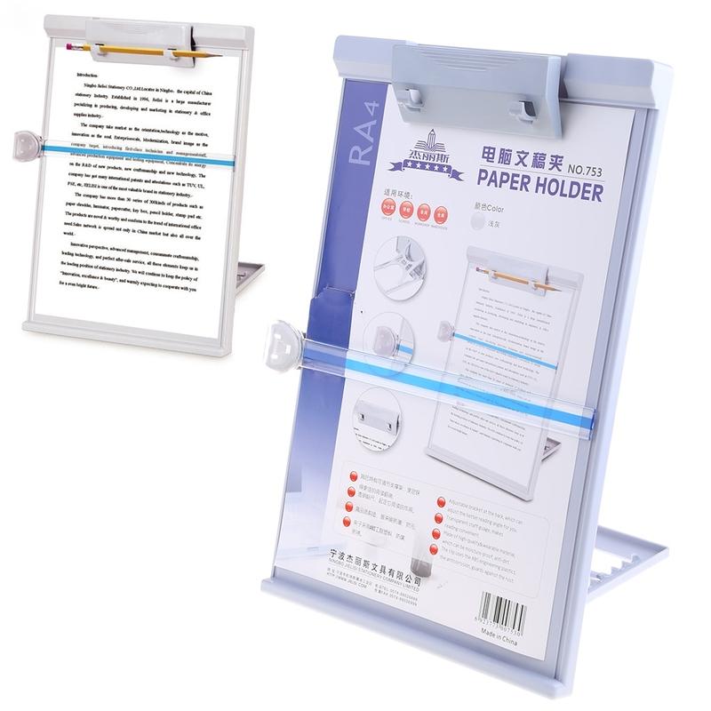 플라스틱 조정가능한 컴퓨터 문서 홀더 책 선반 대 독서 타자 구조