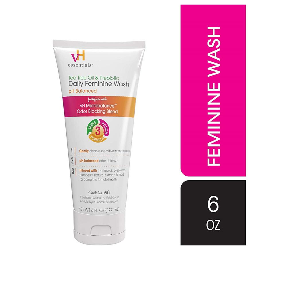 vH essentials Vaginal Wash 티트리 오일 프리바이오틱스 여성청결제 177ml, 1개