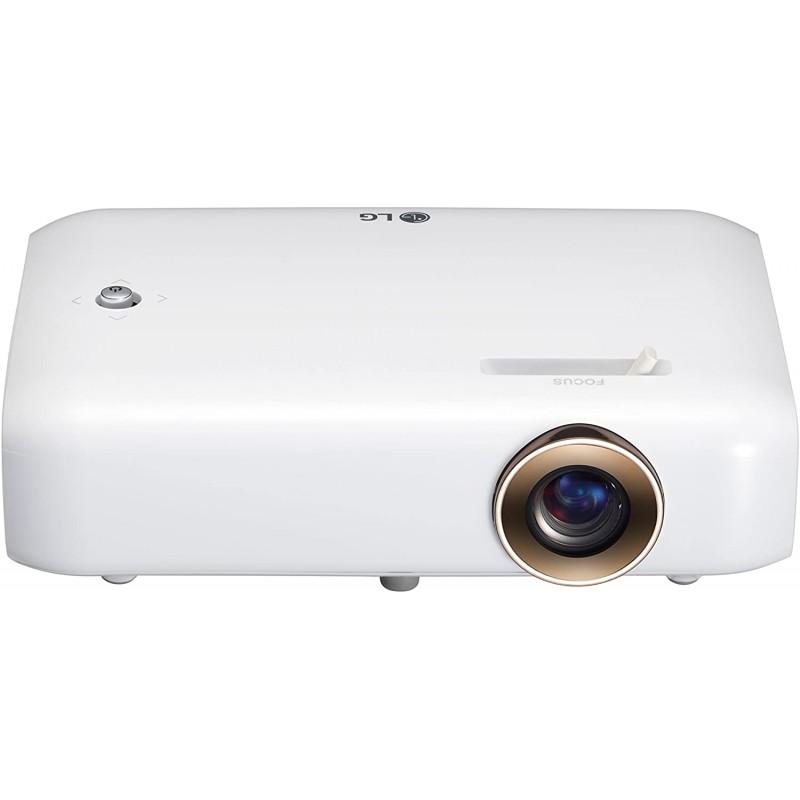 내장 배터리 블루투스 사운드 출력 및 화면 공유 기능이있는 LG PH550 CineBeam LED 프로젝터, 단일상품