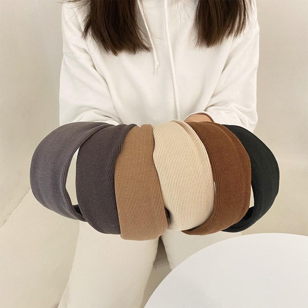 시나몬걸 1+1 니트 6color 넓은 머리띠 헤어밴드