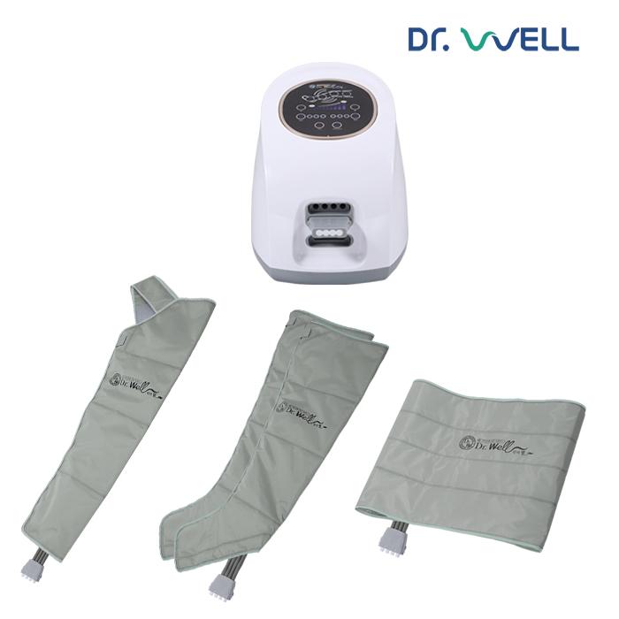 닥터웰 에어슬리머 공기압 다리 마사지기 DR-5190 (본체+다리+팔커프+허리커프) (풀세트)