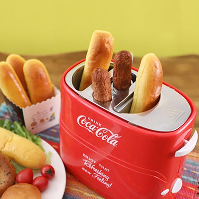 미국 전자동 가정용/상업용 미니 핫도그 기계 토스터 E968, 레드